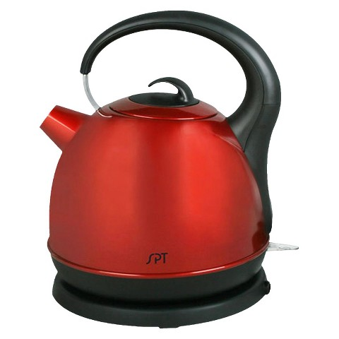 Sunpentown Cordless Electric Kettle - Red (1.7L)