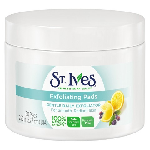 St Ives Exfoliating Pads Face Care Pads 60 ct