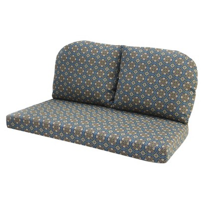 Claro Outdoor 3-Piece Loveseat Replacement Cushion Set