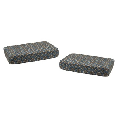 Claro 2-Piece Outdoor Ottoman Replacement Cushion Set