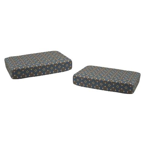Claro 2-Piece Outdoor Ottoman Replacement Cushion Set