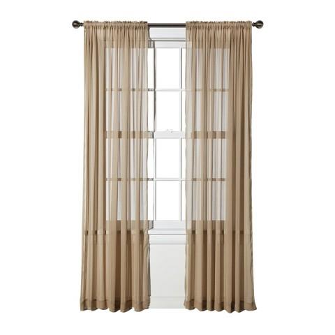 threshold chiffon sheer curtain panel target