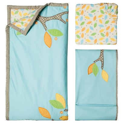 Little Tree Aqua 3pc Crib Bedding Set by Migi
