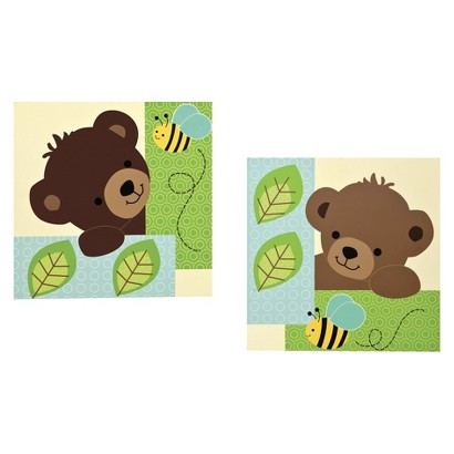 Bedtime Originals Green, yellow brown Honey Bear Wall Décor