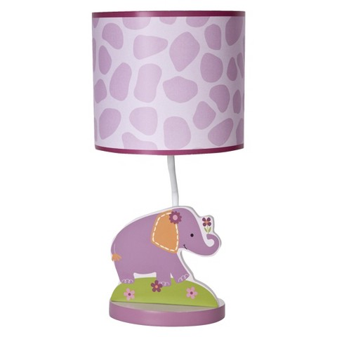 Bedtime Originals Pink, purple, orange and green LF Lamp w/Shade & Bulb
