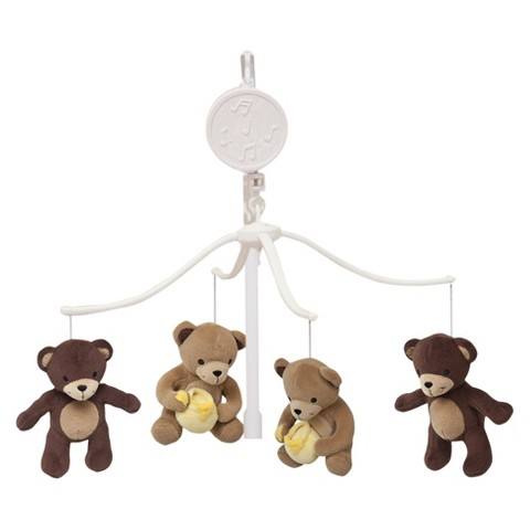 Bedtime Originals Honey Bear Musical Mobile - Brown/White