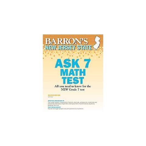 Barron's New Jersey Ask7 Math Test (Revised) (Paperback)
