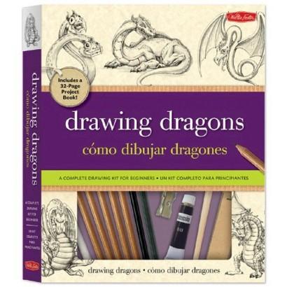 Drawing Dragons / Como dibujar dragones (Bilingual) (Hardcover)