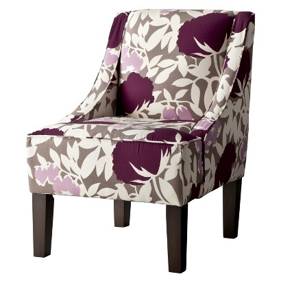 Hudson Swoop Chair - Lavender Floral
