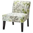 Avington Upholstered Slipper Chair - Gazebo Cloud Floral quick info