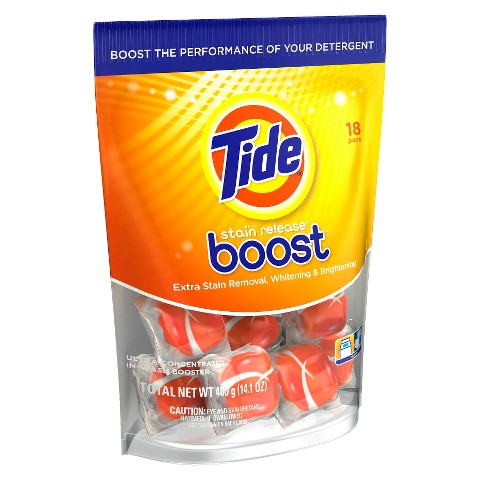 Tide Stain Release Boost In-Wash Stain Remover Pacs 18 Count