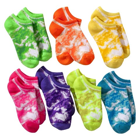 Girls' 7-Pack No-Show Socks - Multicolor