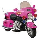 Kid Motorz Police Motorcycle 12V Ride On - Pink