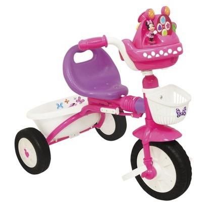 KiddieLand Girl's Minnie Mouse Foldable Trike - Pink