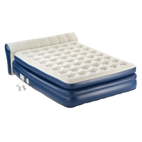 AeroBed® Queen Premier Double High Air Mattress with Built-in-Pump
