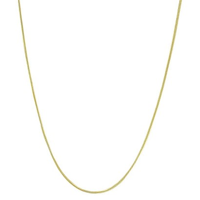 Gold Plated Snake Chain Necklace - 24""