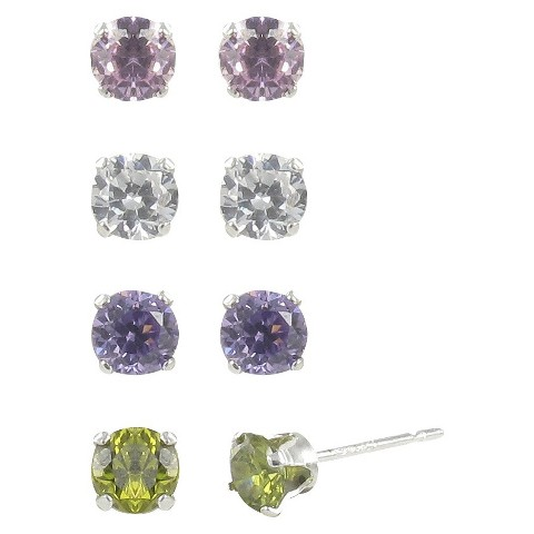 Sterling Silver Plated Quad Multi Earrings