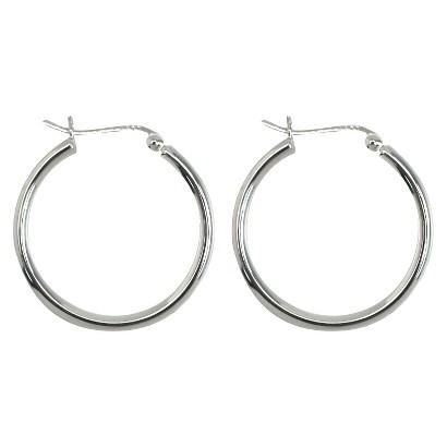 Sterling Silver Plated Tube Hoop Earrings
