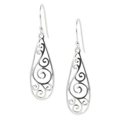 Sterling Silver Plated Dangle Earrings