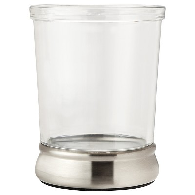InterDesign Gina Nickel Ribbed Tumbler - Clear