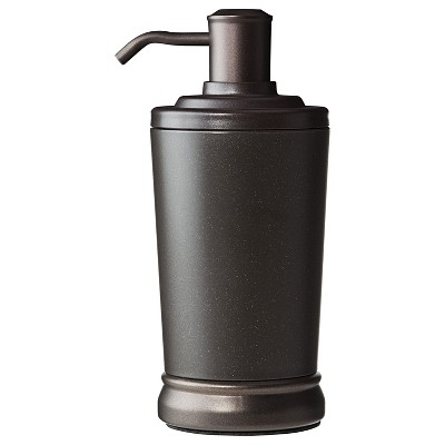 InterDesign Gina Bronze Ribbed Soap Pump - Bronze/Brown