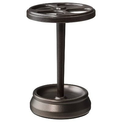 InterDesign Gina Bronze Ribbed Toothbrush Stand - Bronze/Brown