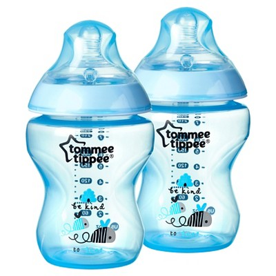 Tommee Tippee Closer To Nature 9 oz Boy Deco Bottle (2pk)
