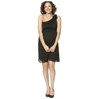 Maternity One Shoulder Rosette Dress-Merona®