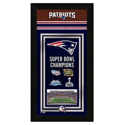 NFL Team Framed Championship Banner - New England Patriots