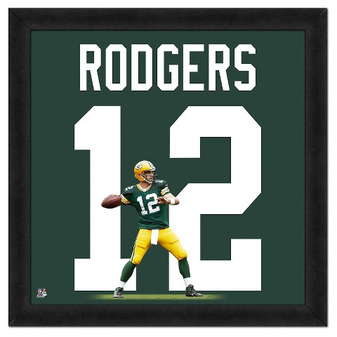 Green Bay Packers Aaron Rodgers Framed Uniframe