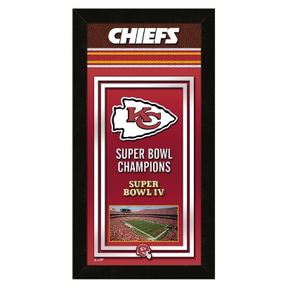 NFL Kansas City Chiefs Framed Championship Banner