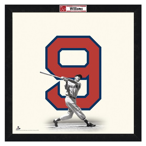 Boston Red Sox Ted Williams Framed Uniframe