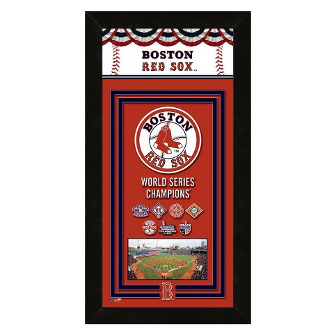 Boston Red Sox Framed Championship Banner