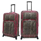 U.S. Traveler 2 Piece Leopard Print Fashion Spinner Luggage Set