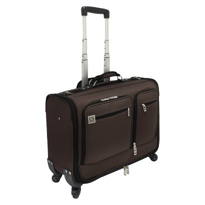 "U.S. Traveler 22"" Carry-On Spinner Garment Bag - Brown"