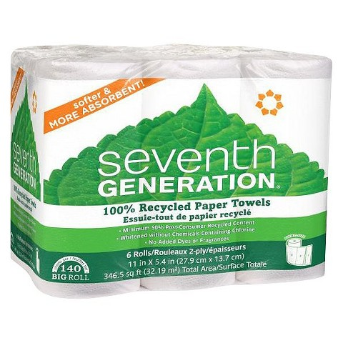 Seventh Generation® Recycled Paper Towels 6 Rolls