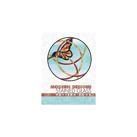 Modern Designs Stained Glass Pattern Book (Paperback)