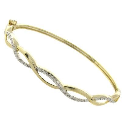 Diamond Infinity Bangle Bracelet