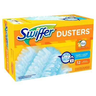 Swiffer Dusters Cleaner Refills Febreze Sweet Citrus & Zest Scent 12 count