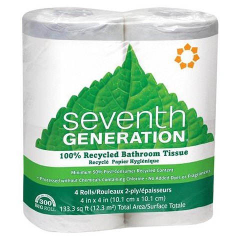 Seventh Generation Recycled Two-Ply Bathroom Tissue 4-pk.