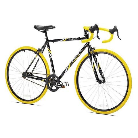 """Kent Men's Takara Kabuto 21"""" Road Bike - Black/Yellow"""