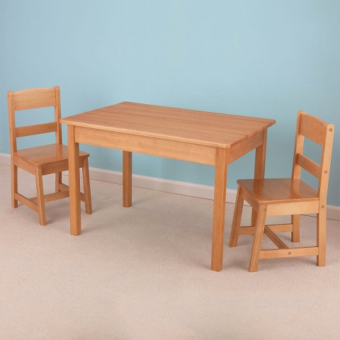 Kidkraft Rectangle Table & 2 Chair Set - Natural