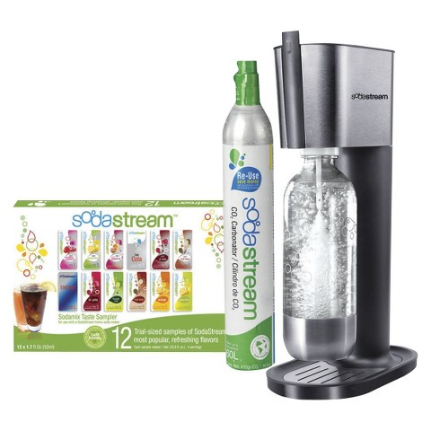 SodaStream Pure Black/Stainless Steel Soda Maker Starter Kit