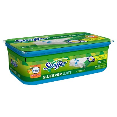 Swiffer Sweeper Febreze Sweet Citrus & Zest Scent Wet Mopping Cloths Refill 28 ct