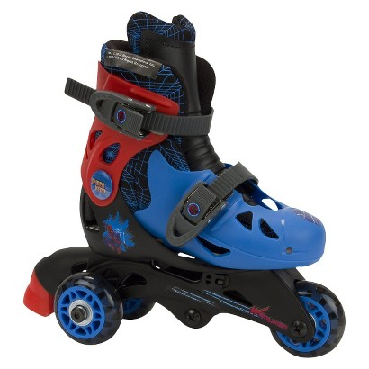 Ultimate Spiderman Convertible Skates - Black/Red/Blue (J6 - J9)