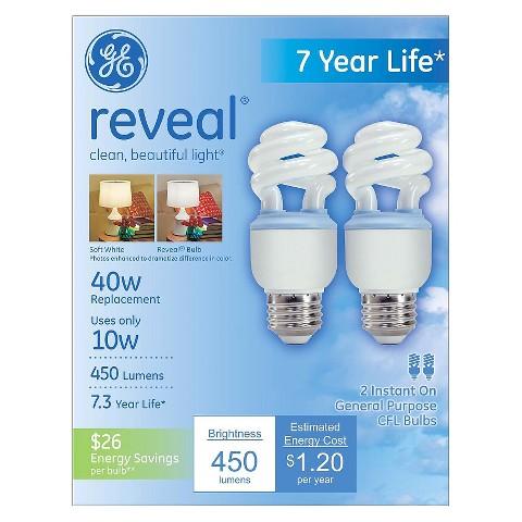 GE Reveal Spiral CFL Bulbs