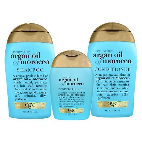 OGX Renewing Moroccan Argan Oil 3 Piece Starter Kit
