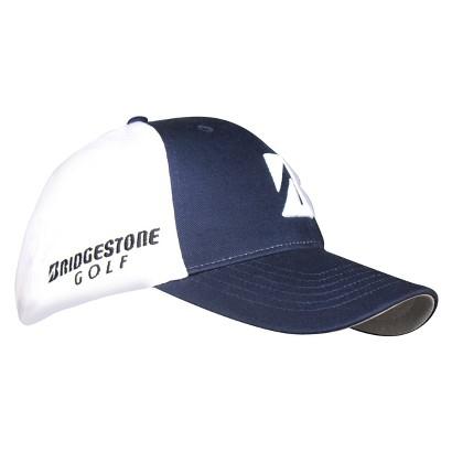 Navy/White Poly/Mesh Hat - Navy/White  - Adjustable