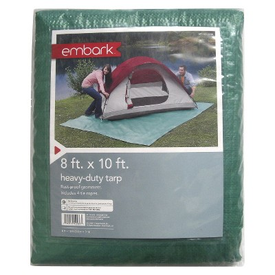 Camping Tarp 8ftx10ft -Green