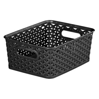 ECOM Room Essentials� Y-Weave Small Storage Basket - Set of 4 - Black